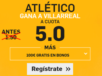 Supercuota Betfair la liga Atletico