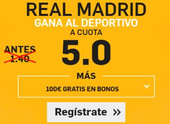 Supercuota Betfair la liga Real Madrid