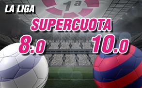 Supercuota wanabet la liga Real Madrid Barcelona