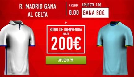 Supercuota Sportium la Liga Real Madrid gana al Celta