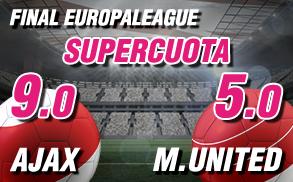 Supercuota Wanabet Final europa League Ajax M. United