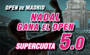 Supercuota Wanabet Nadal Gana el Madrid Open