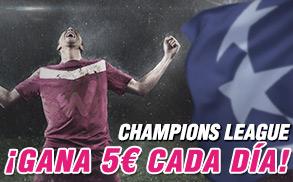 Wanabet Champions League gana 5€ cada día