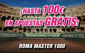 Wanabet Masters de Roma gana hasta 100€ en apuestas gratis