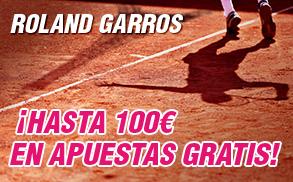 Wanabet Roland Garros 100€ Apuestas gratis