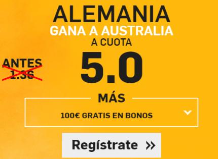 Supercuota Betfair Alemania gana a Australia