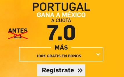 Supercuota Betfair Portugal gana a México