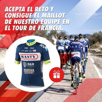 Circus consigue el Maillot de nuestro equipo en el Tour de Francia
