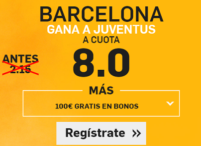 Supercuota Betfair Barcelona gana a Juventus