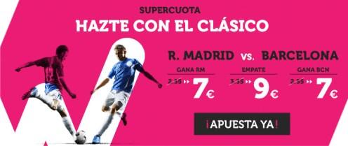 Wanabet Supercuota R. Madrid vs Barcelona