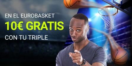 Luckia Freebet 10€ en Eurobasket al realizar una combinada