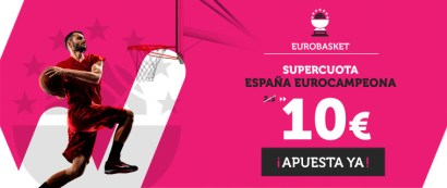 Supercuota Wanabet Eurobasket España Eurocampeona a cuota 10