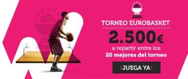 Wanabet Torneo Eurobasket 2.500€ a repartir