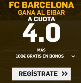 Supercuota Betfair Barcelona gana al eibar