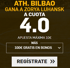 Supercuota Betfair liga europea - Ath Bilbao vs Zorya Luhansk