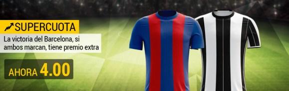 Supercuota Bwin Barcelona - Juventus ambos marcan cuota 4.00