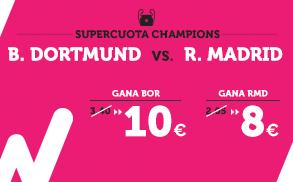 Supercuota Wanabet Champions - B. Dortmund vs Real Madrid