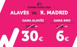 Supercuota Wanabet La Liga Alavés - Real Madrid