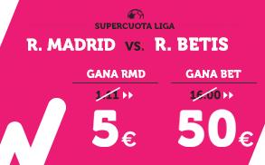 Supercuota Wanabet la Liga Real Madrid - R. Betis