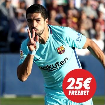 Circus la Liga Valencia - Barcelona 25€ freebet