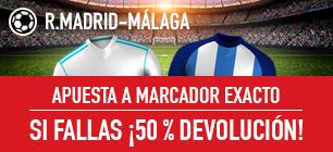 Sportium la liga devolución R. Madrid Malaga