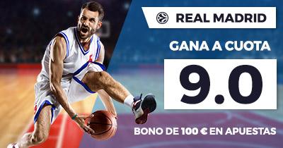 Supercuota Paston Euroliga Real Madrid gana a cuota 9.0