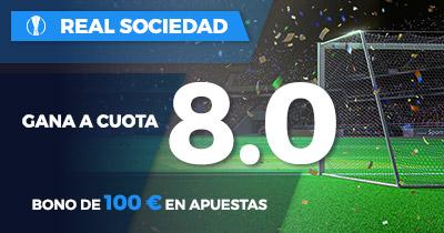 Supercuota Paston Europa League Real Sociedad gana cuota 8.0