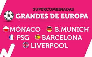 Wanabet Supercombinadas Europa 4 noviembre