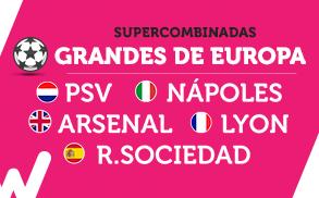 Wanabet Supercombinadas grandes de europa