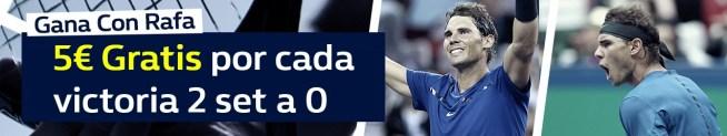 Williamhill 5€ por cada victoria 2 set a 0 de Rafa