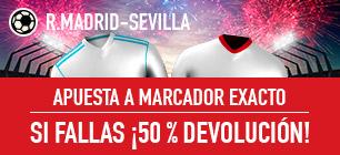 Sportium la liga R. Madrid - Sevilla 50% devolucion