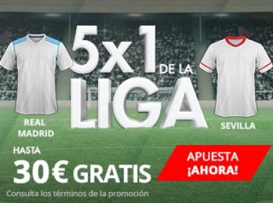 Suertia la Liga 5x1 Real Madrid - Sevilla 30€ gratis