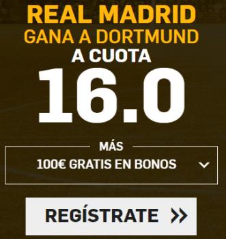 Supercuota Betfair Champions Real Madrid - Dortmund