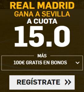 Supercuota Betfair la Liga Real Madrid - Sevilla