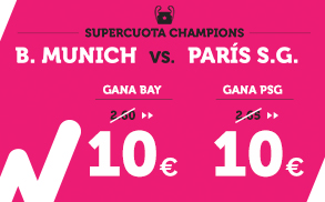 Supercuota Wanabet Champions B. Munich vs Paris S.G