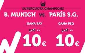 Supercuota Wanabet Champions B. Munich vs Paris S.G