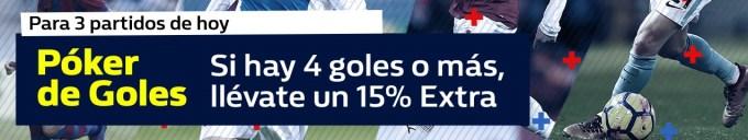 WilliamHill 15% extra en 3 partidos hoy!