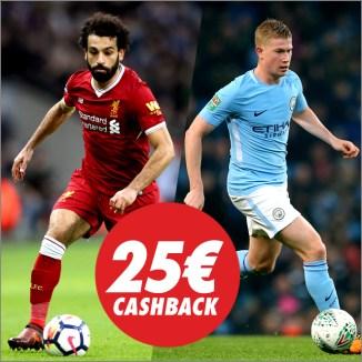 Circus liverpool vs Manchester 25€ cashback