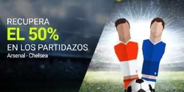Luckia Recupera el 50% en Arsenal - Chelsea