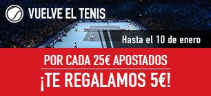 Sportium tenis cada 25€ apostados 5€ gratis!