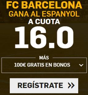 Supercuota Betfair Copa del Rey Barcelona Espanyol