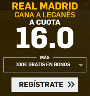 Supercuota Betfair Copa del Rey R. Madrid Leganés
