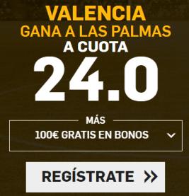 Supercuota Betfair Copa del Rey - Valencia vs Las palmas