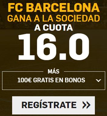 Supercuota Betfair la liga FC Barcelona - R. Sociedad