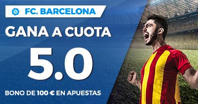 Supercuota Paston la Liga FC Barcelona gana a cuota 5.0