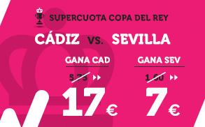 Supercuota Wanabet Copa del Rey Cádiz - Sevilla