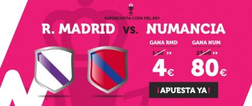 Supercuota Wanabet Copa del Rey R. Madrid - Numancia