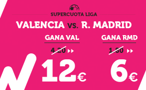 Supercuota Wanabet la Liga Valencia - R. Madrid
