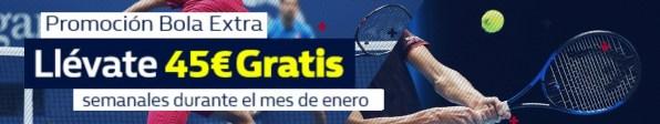 Williamhill 45€ gratis en tenis durante el mes de enero