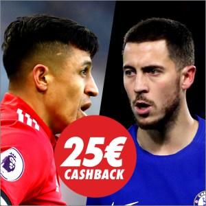 Circus Manchester United vs Chelsea Cashback 25€